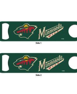 Minnesota Wild Green Metal Bottle Opener 2-Sided