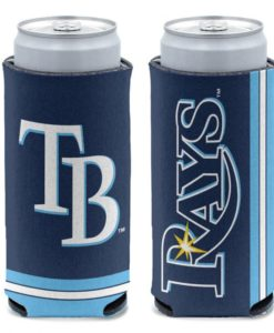Tampa Bay Rays 12 oz Blue Slim Can Cooler Holder