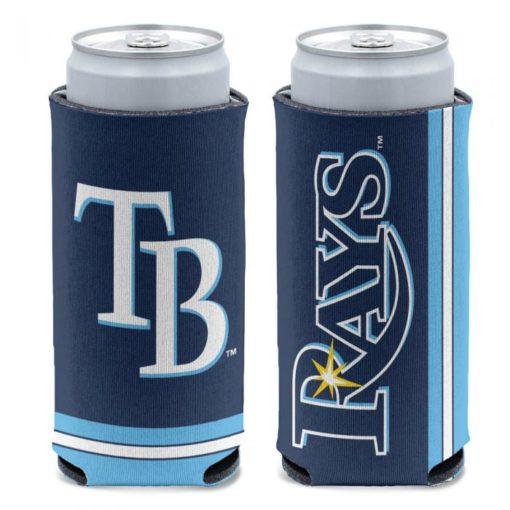 Tampa Bay Rays 12 oz Blue Slim Can Cooler Holder