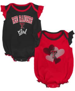 Texas Tech Red Raiders Baby Girl 2 Pack Onesie Creeper Set