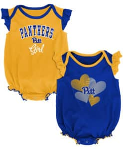 Pittsburgh Pitt Panthers Baby Girl 2 Pack Onesie Creeper Set