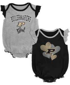 Purdue Boilermakers Baby Girl 2 Pack Onesie Creeper Set