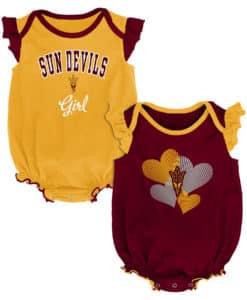 Arizona State Sun Devils Baby Girl 2 Pack Onesie Creeper Set