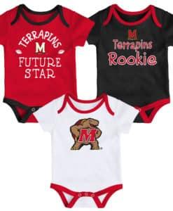 Maryland Terrapins Baby 3 Pack Future Star Onesie Creeper Set
