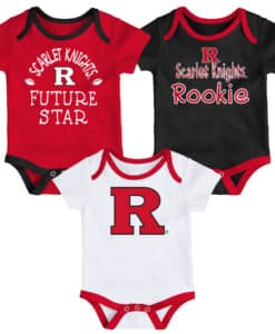 Rutgers Scarlet Knights Baby 3 Pack Future Star Onesie Creeper Set