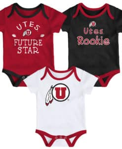 Utah Utes Baby 3 Pack Future Star Onesie Creeper Set
