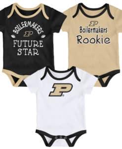 Purdue Boilermakers Baby 3 Pack Future Star Onesie Creeper Set