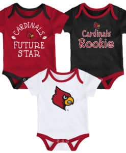 Louisville Cardinals Baby 3 Pack Future Star Onesie Creeper Set