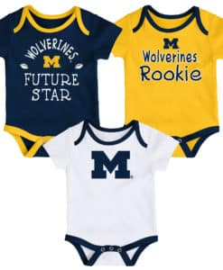Michigan Wolverines Baby 3 Pack Future Star Onesie Creeper Set