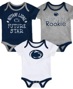 Penn State Nittany Lions Baby 3 Pack Future Star Onesie Creeper Set