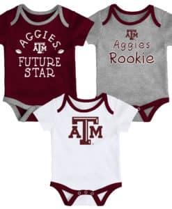 Texas A&M Aggies Baby 3 Pack Future Star Onesie Creeper Set