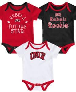 UNLV Rebels Baby 3 Pack Future Star Onesie Creeper Set