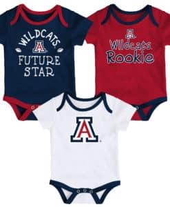 Arizona Wildcats Baby 3 Pack Future Star Onesie Creeper Set
