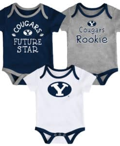 Brigham Young Cougars Baby 3 Pack Future Star Onesie Creeper Set