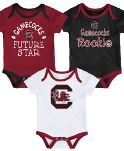 South Carolina Gamecocks Baby 3 Pack Future Star Onesie Creeper Set
