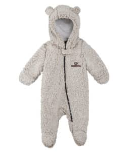 Georgia Bulldogs Baby Gray Sherpa Hooded Teddy Full Zip Sleep & Play Coverall