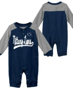 Penn State Nittany Lions Baby Navy Scrimmage Long Sleeve Coverall