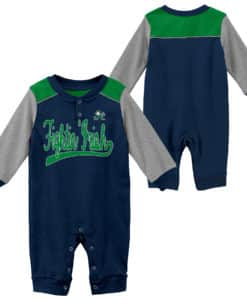 Notre Dame Fighting Irish Baby Navy Scrimmage Long Sleeve Coverall