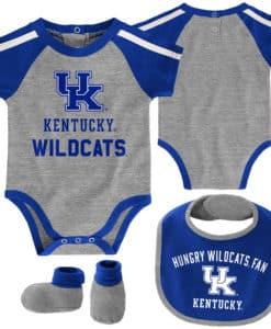 Kentucky Wildcats Baby Gray Blue 3 Piece Creeper Set