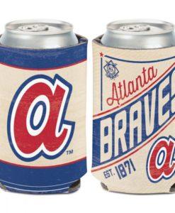 Atlanta Braves 12 oz Blue Cream Cooperstown Can Cooler Holder