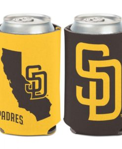 San Diego Padres 12 oz Brown Yellow California Can Cooler Holder