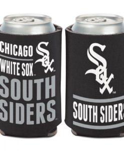 Chicago White Sox 12 oz Black Slogan Can Cooler Holder