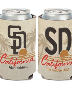 San Diego Padres 12 oz Cream State Plate Can Cooler Holder