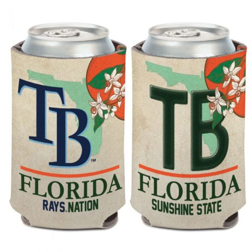 Tampa Bay Rays 12 oz State Plate Can Cooler Holder