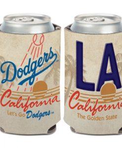 Los Angeles Dodgers 12 oz State Plate Can Cooler Holder