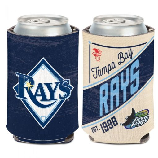 Tampa Bay Rays 12 oz Blue Cream Cooperstown Can Cooler Holder