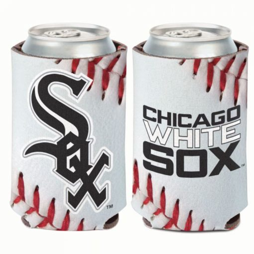 Chicago White Sox 12 oz Ball Design White Can Cooler Holder
