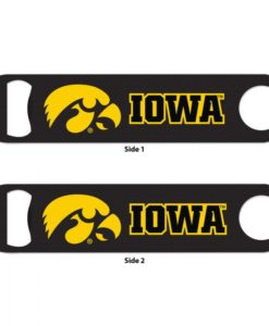 Iowa Hawkeyes Black Metal Bottle Opener 2-Sided