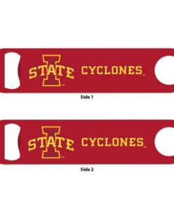Iowa State Cyclones Red Metal Bottle Opener 2-Sided