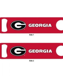 Georgia Bulldogs Red Metal Bottle Opener 2-Sided