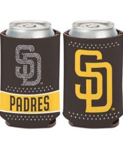 San Diego Padres 12 oz Brown Bling Can Cooler Holder