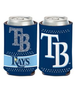 Tampa Bay Rays 12 oz Blue Bling Can Cooler Holder