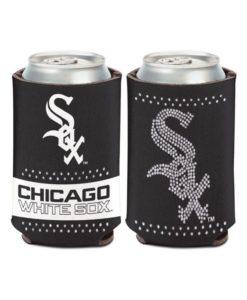 Chicago White Sox 12 oz Black Bling Can Cooler Holder