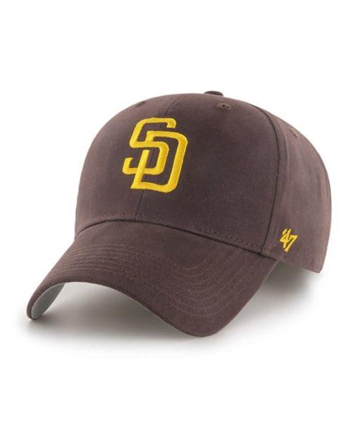 San Diego Padres YOUTH 47 Brand Brown MVP Adjustable Hat