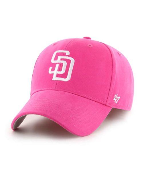 San Diego Padres YOUTH Girls 47 Brand Pink MVP Adjustable Hat