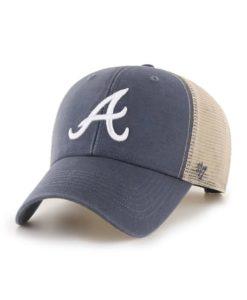 Atlanta Braves 47 Brand Vintage Navy MVP Mesh Snapback Hat