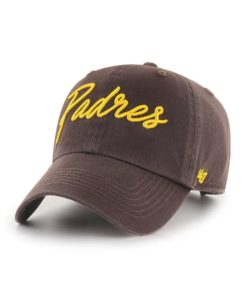 San Diego Padres Women's 47 Brand Brown Lyric Clean Up Adjustable Hat