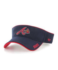 Atlanta Braves VISOR 47 Brand Navy Top Rope Adjustable Hat