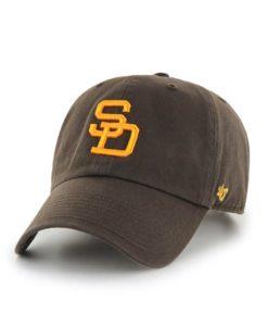 San Diego Padres 47 Brand Cooperstown Brown Clean Up Adjustable Hat