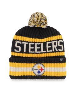 Pittsburgh Steelers 47 Brand Black Bering Cuff Knit Hat