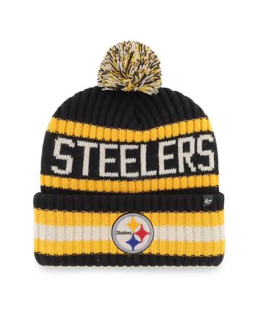 Pittsburgh Steelers 47 Brand Black Bering Cuff Knit Hat