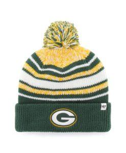 Green Bay Packers KIDS 47 Brand Dark Green Bubbler Cuff Knit Hat