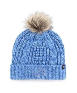 Detroit Lions Women's 47 Brand Blue Raz Meeko Cuff Knit Hat