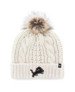 Detroit Lions Women's 47 Brand White Cream Meeko Cuff Knit Hat