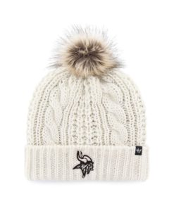 Minnesota Vikings Women's 47 Brand White Cream Meeko Cuff Knit Hat