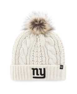 New York Giants Women's 47 Brand White Cream Meeko Cuff Knit Hat